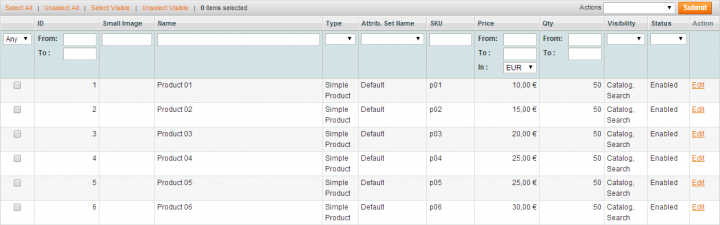 Magento Grid Pagination funktioniert nicht
